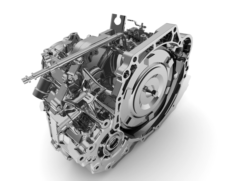 Automatic Transmission of a vehicle on a white surface. Isolated